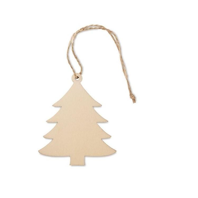 Décoration forme arbre en MDF - Noël publicitaire