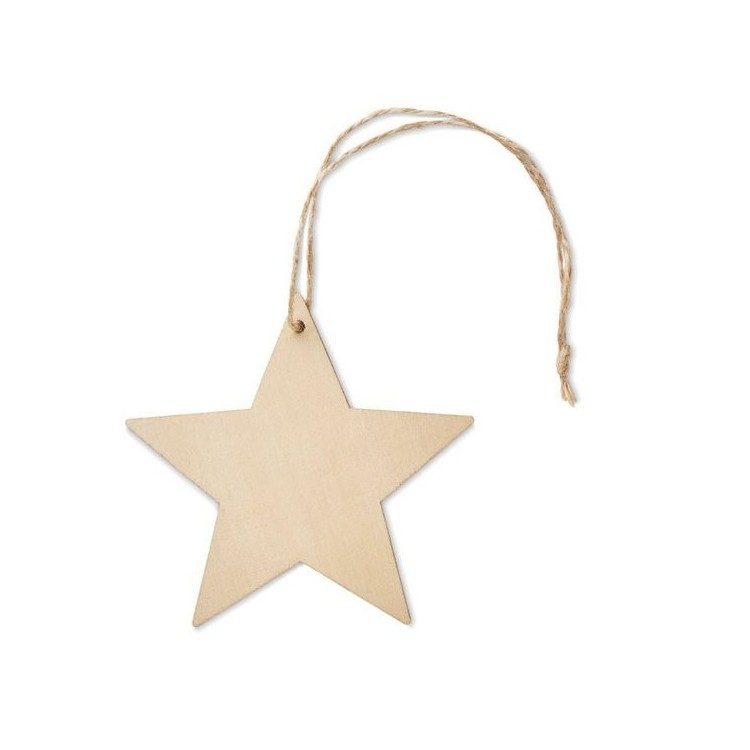 ESTY - Décoration forme étoile en MDF publicitaire - Noël personnalisé