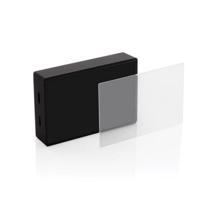 Enceinte 3W avec verre trempé personnalisable publicitaire - Enceinte & haut-parleur personnalisée