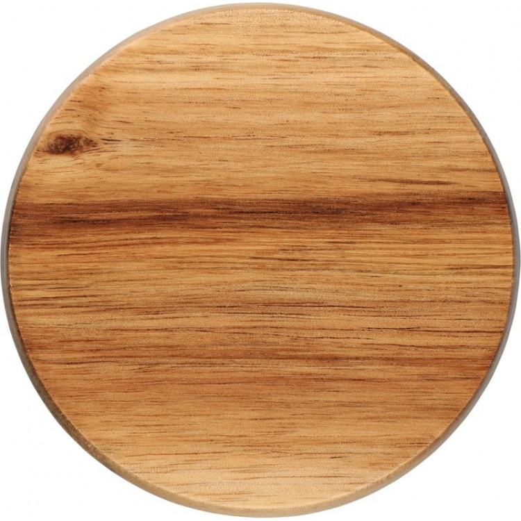 Bouteille en verre 54cl avec couvercle en bois - Ecologique avec logo