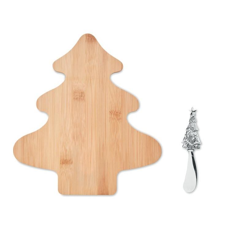 Set à fromages en bambou personnalisé - Noël personnalisable