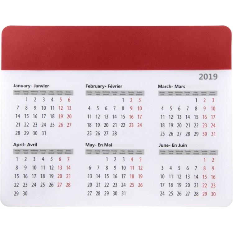 Tapis de souris avec calendrier 2021 publicitaire - Tapis de sol personnalisé