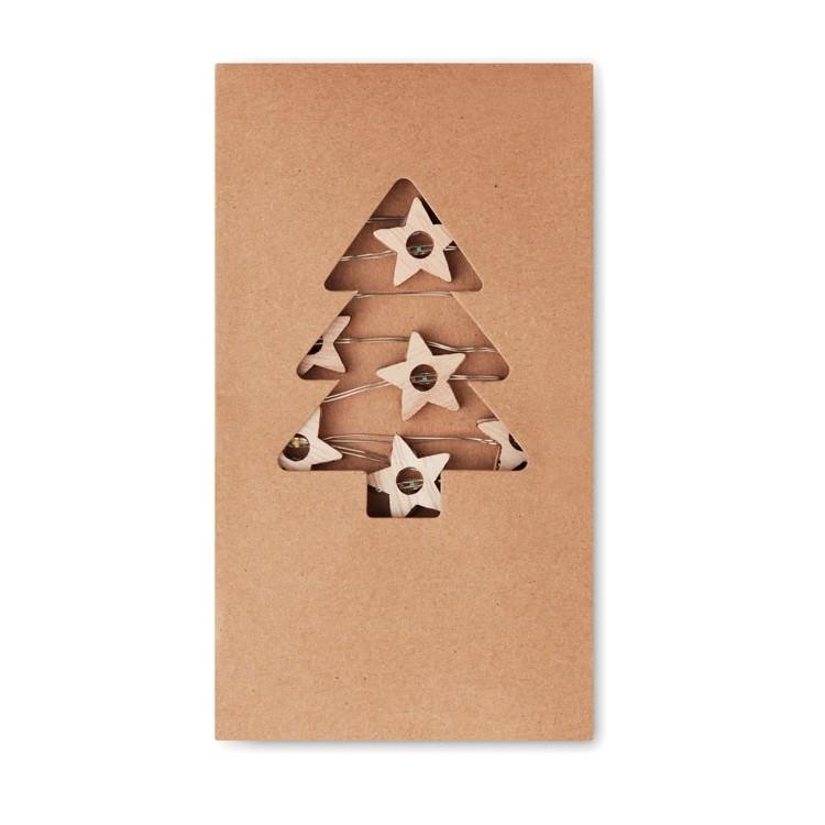 Guirlande étoiles lumineuses - Noël avec logo