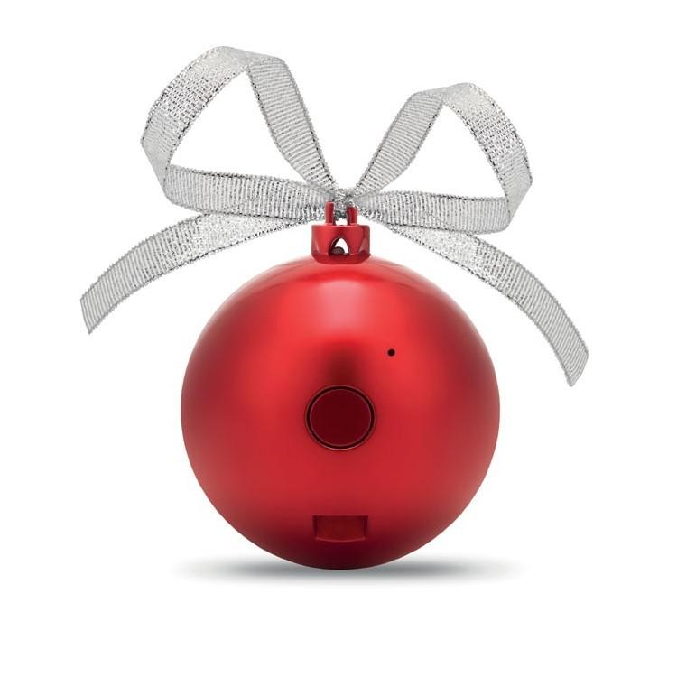 Haut parleur boule de Noël - Noël avec logo