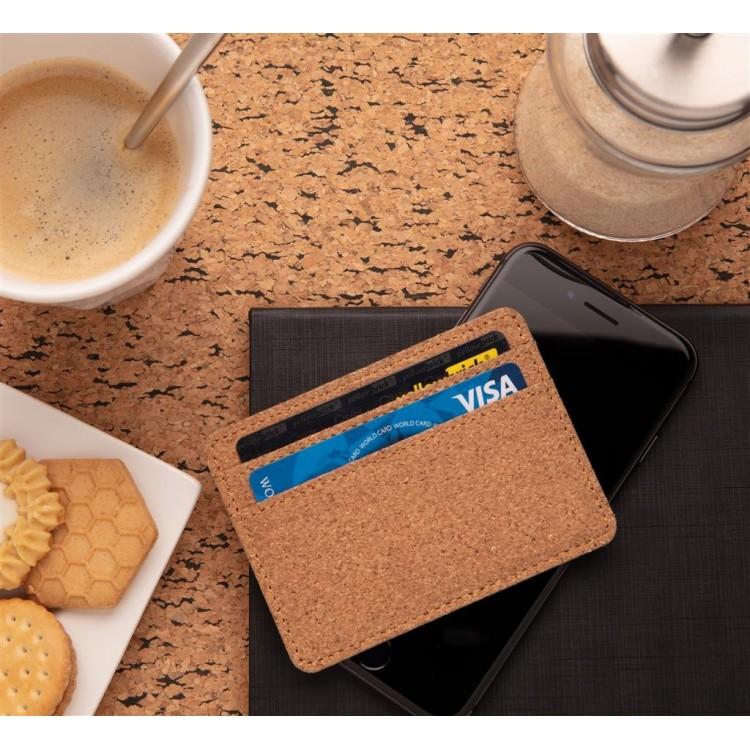 Porte-cartes anti RFID en liège - Produits personnalisable