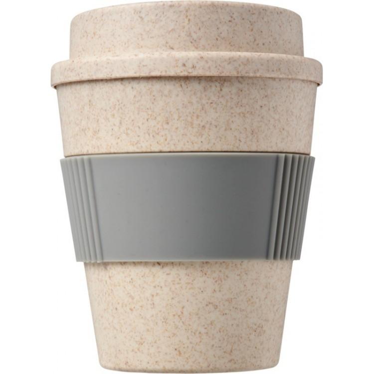 Gobelet 35cl en paille de blé - Hiver avec logo