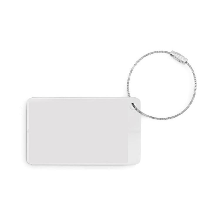 Etiquette à bagage en aluminium- FLY TAG publicitaire - Kit de voyage personnalisé