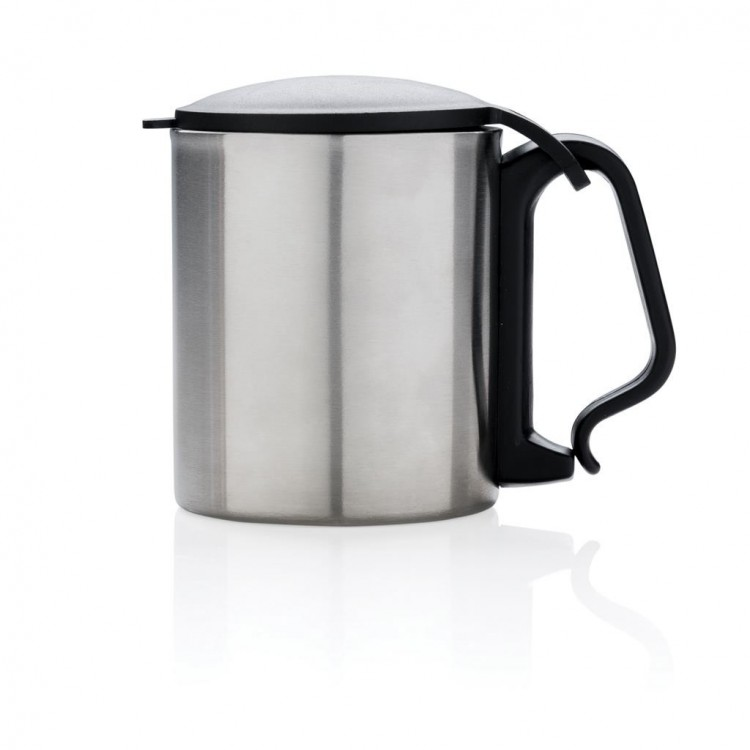 Mug 20cl avec couvercle et anse mousqueton personnalisé - Mug personnalisable