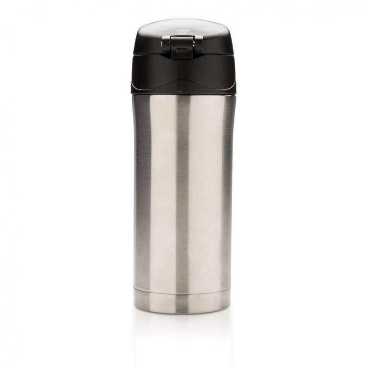Mug isotherme 30cl à verrouillage facile - Mug isotherme publicitaire
