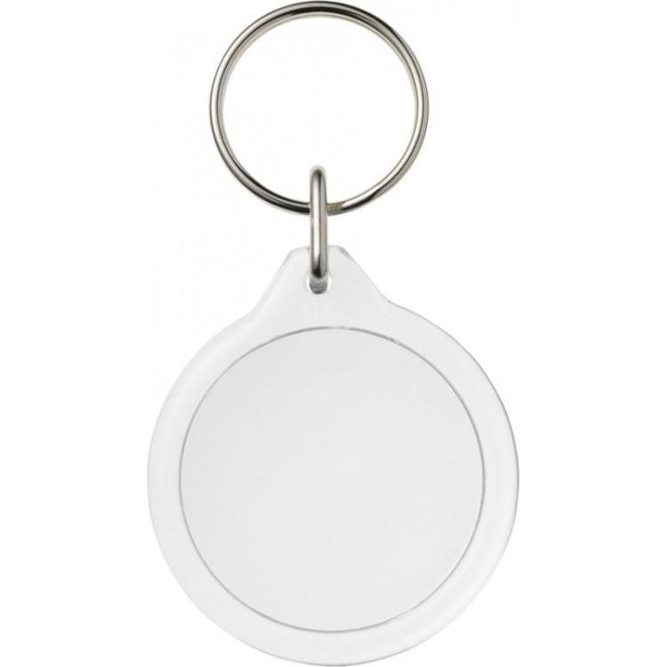 Porte-clés rond I7 Orb personnalisé - Porte-clé plastique personnalisable