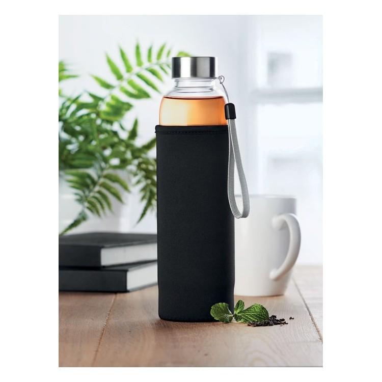 Bouteille en verre 50cl avec infuseur à thé - Bouteille avec logo