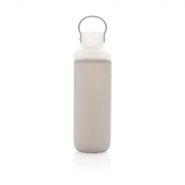 Bouteille d'eau 60cl en verre avec manche silicone publicitaire - Plein air, sport et loisirs personnalisé