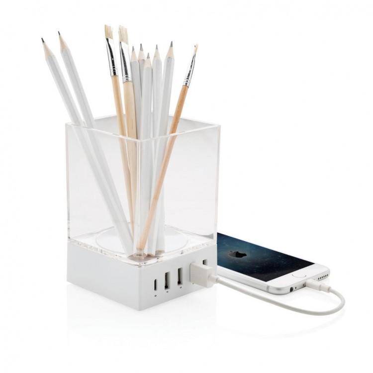 Pot à crayons chargeur - Pot à crayons avec logo