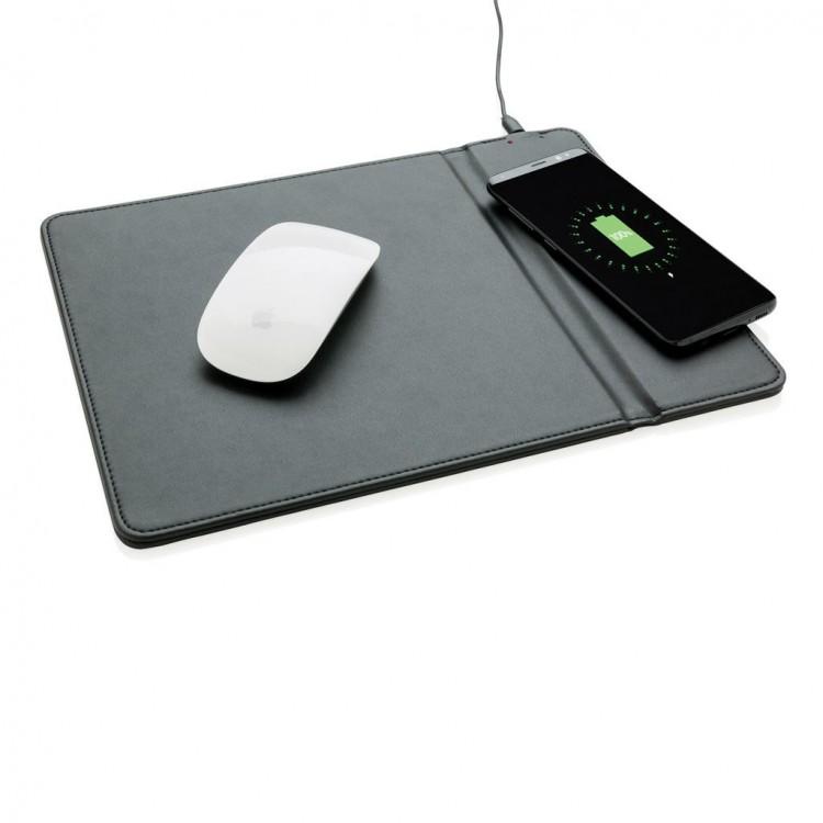 Tapis de souris avec coussin à induction personnalisé - Chargeur personnalisable