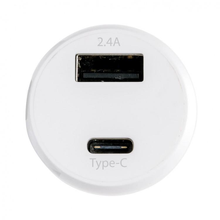 Chargeur de voiture avec port de type C et port USB personnalisé - Chargeur personnalisable