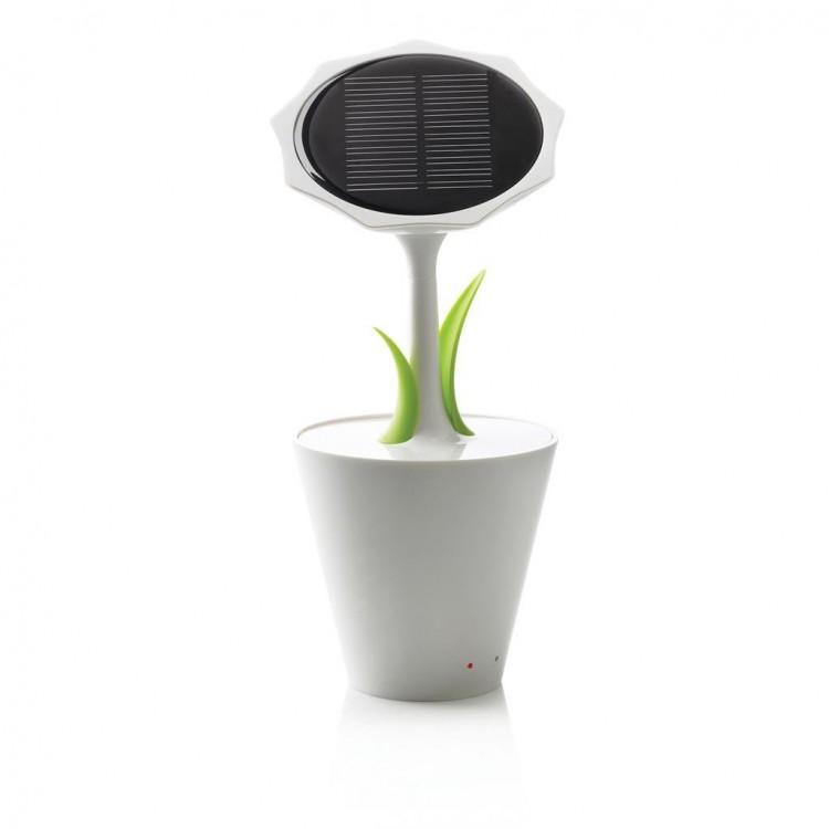 Chargeur solaire tournesol 2500mAh - Bureau avec logo