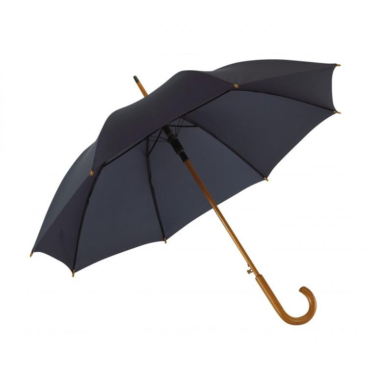 Parapluie automatique poignée bois - Parapluie automatique publicitaire
