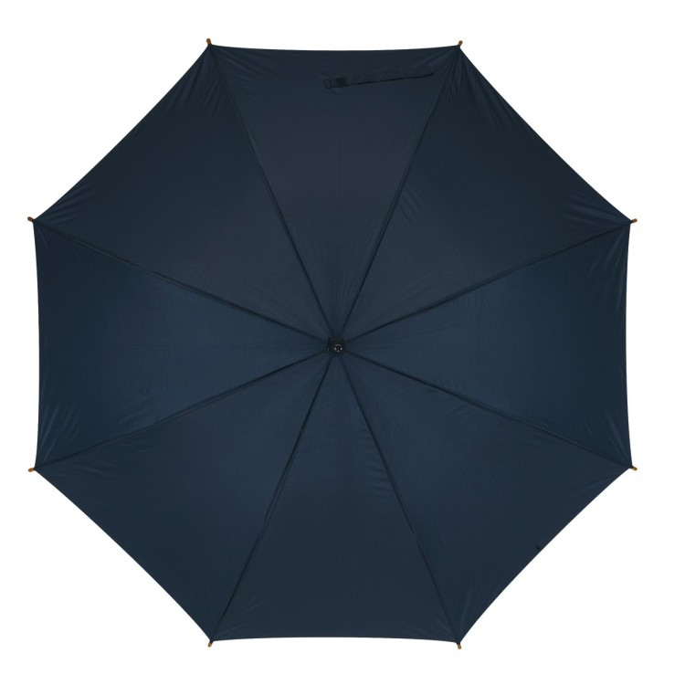 Parapluie automatique poignée bois - Parapluie canne publicitaire