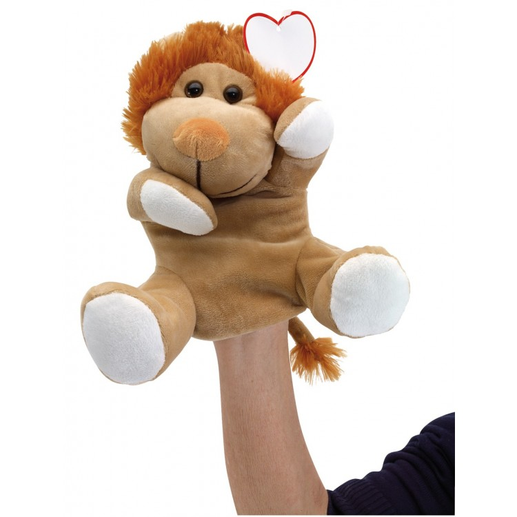 Marionnette en peluche Lion - Peluche avec logo