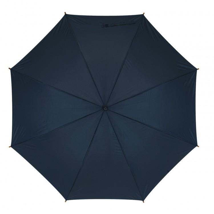 Parapluie automatique manche bois publicitaire - Parapluie canne personnalisé