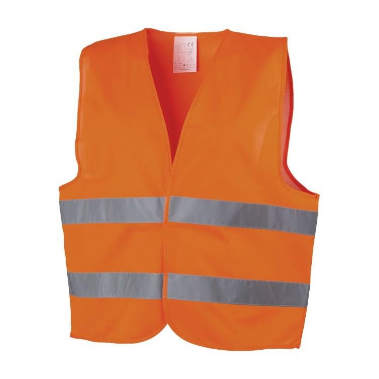 Gilet de sécurité orange publicitaire - Gilet de sécurité personnalisé