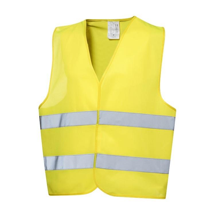 Gilet de sécurité jaune avec pochette - Gilet de sécurité personnalisable