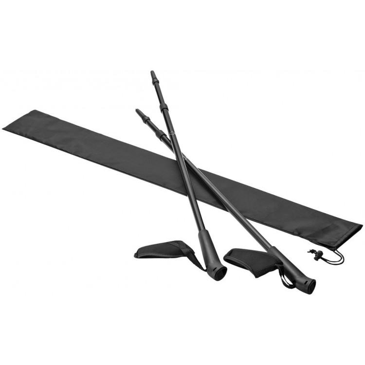 Batons de randonnée télescopique publicitaire - Bâtons de marche personnalisé