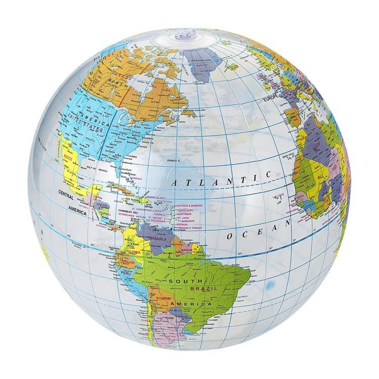 Ballon gonflable mappemonde - Ballon de plage personnalisable