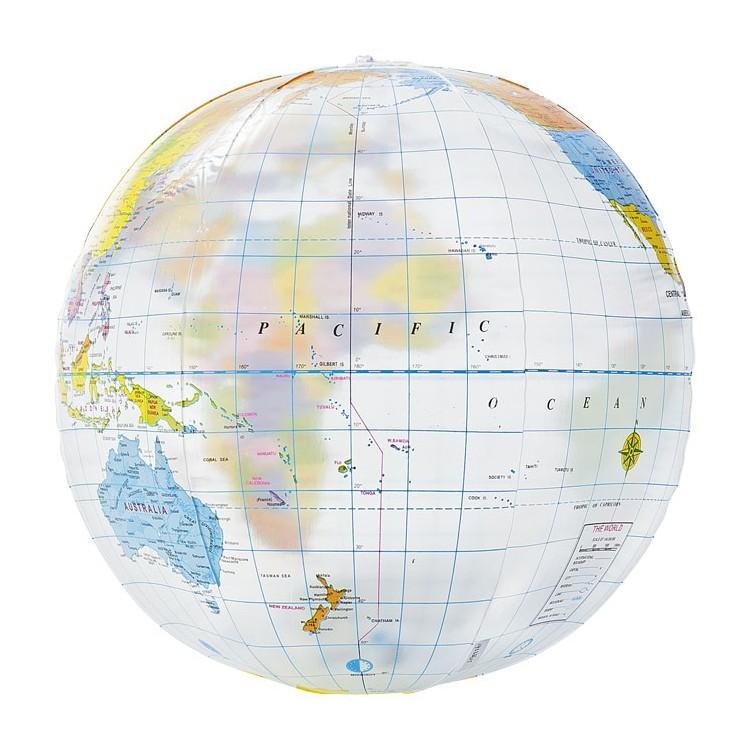 Ballon gonflable mappemonde personnalisé - Ballon personnalisable