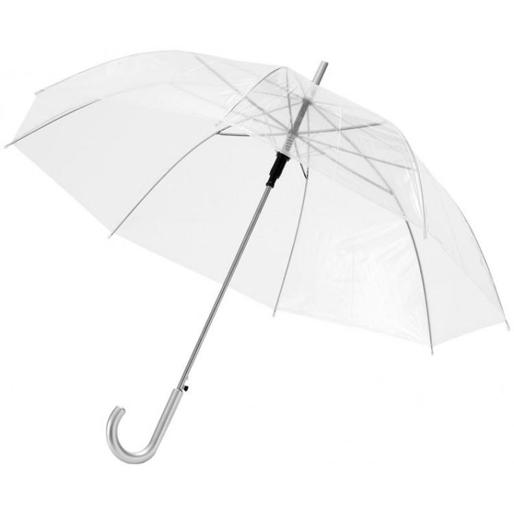 Parapluie automatique transparent (98 cm) - Parapluie canne publicitaire