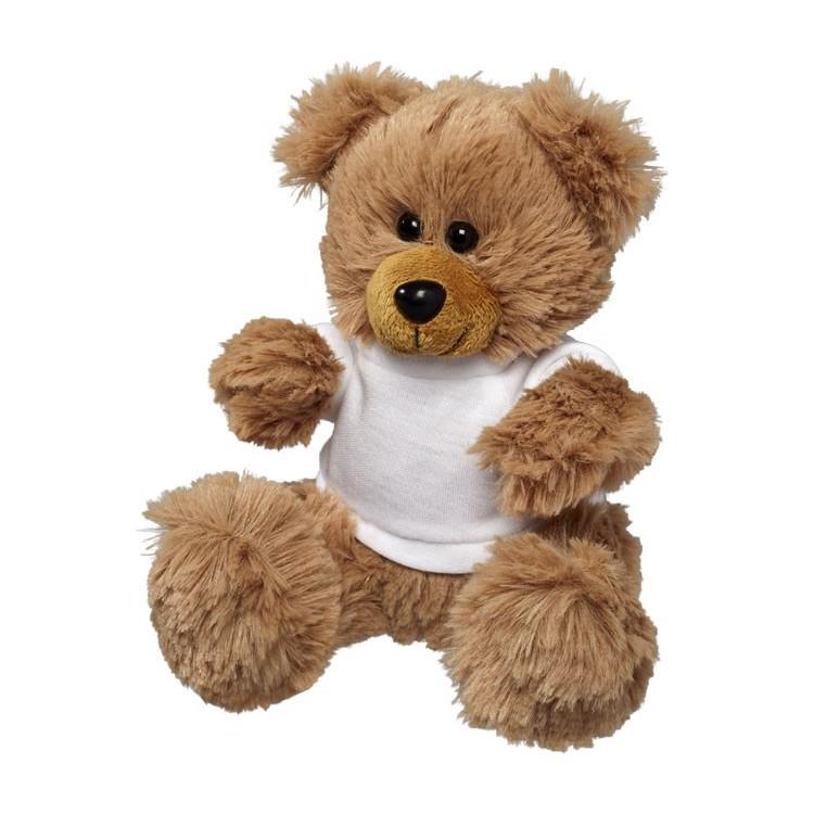 Ours en peluche assis petit modèle - Peluche publicitaire