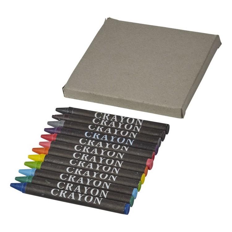Boîte de 12 crayons de couleurs gras - Crayon de couleur avec logo