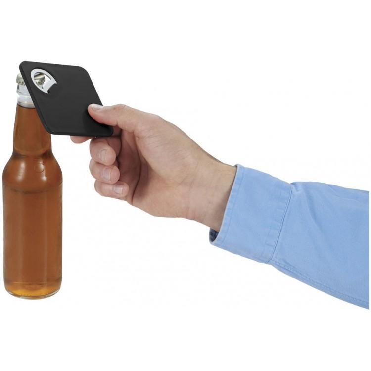 Dessous de verre et ouvre-bouteille publicitaire - Sous-verre personnalisé