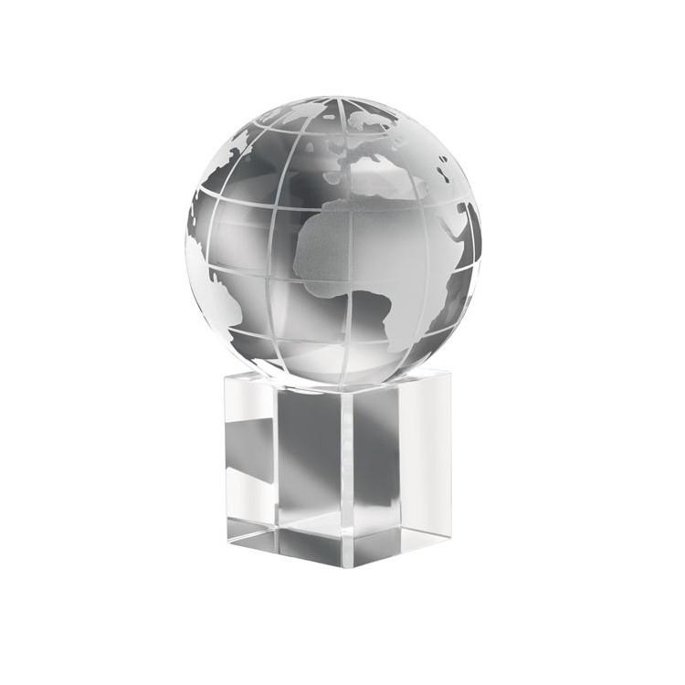 Presse papiers globe cristal - Bureau publicitaire
