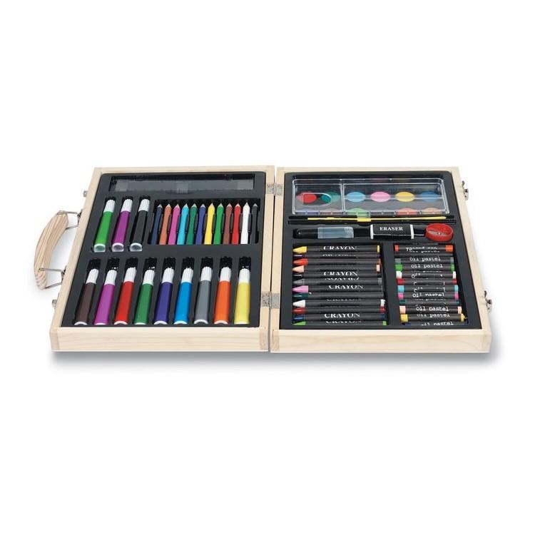 Coffret en bois de couleur et peinture - Peinture personnalisée