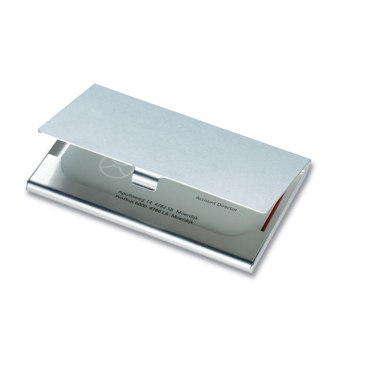 Etui cartes de visite (aluminium) personnalisé - Bureau personnalisable