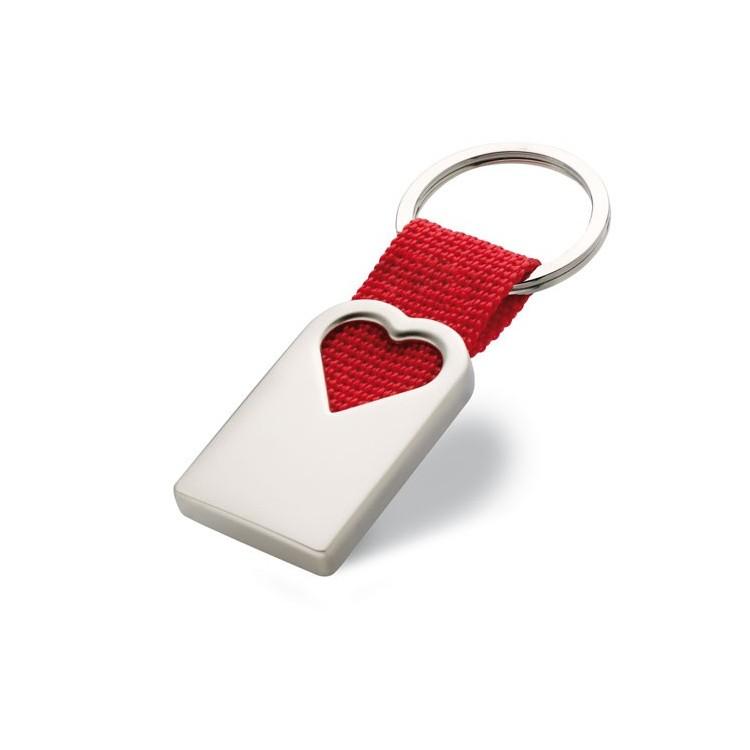 Porte clef coeur (métal) - Porte-clé métal avec logo