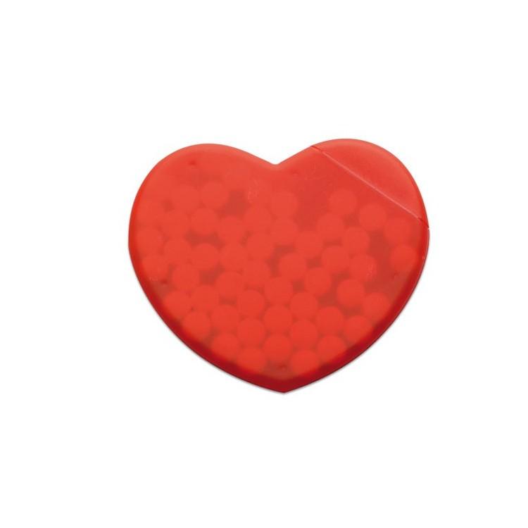 Boite coeur de bonbons publicitaire - Enfants personnalisé