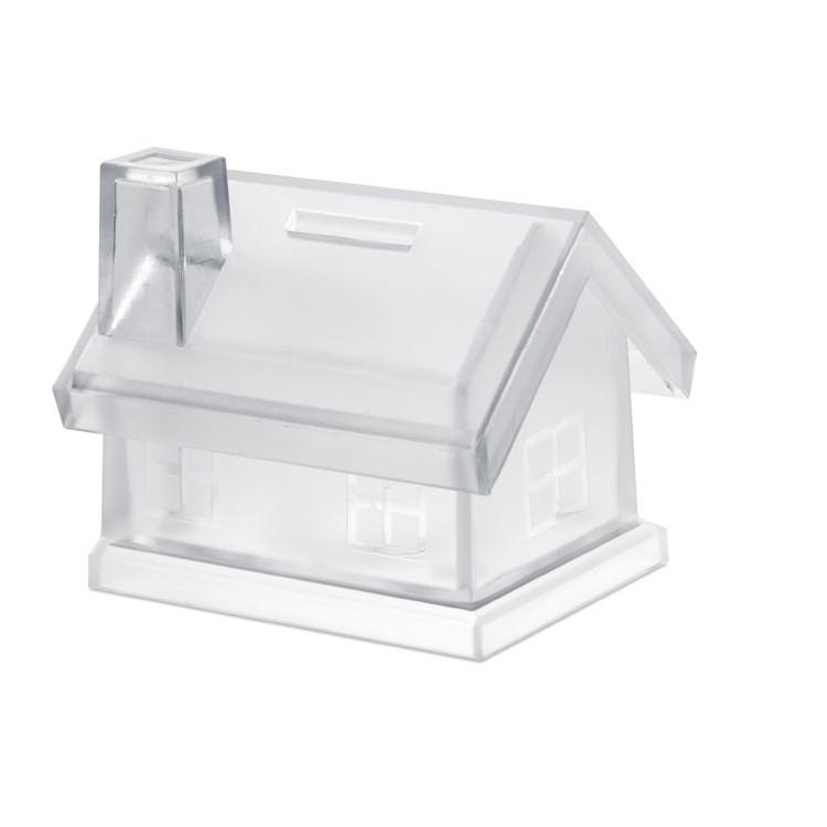 Tirelire maison plastique - Plein air avec logo