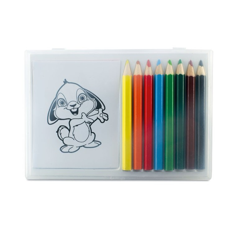 Set crayons de couleur en bois publicitaire - Enfants personnalisé