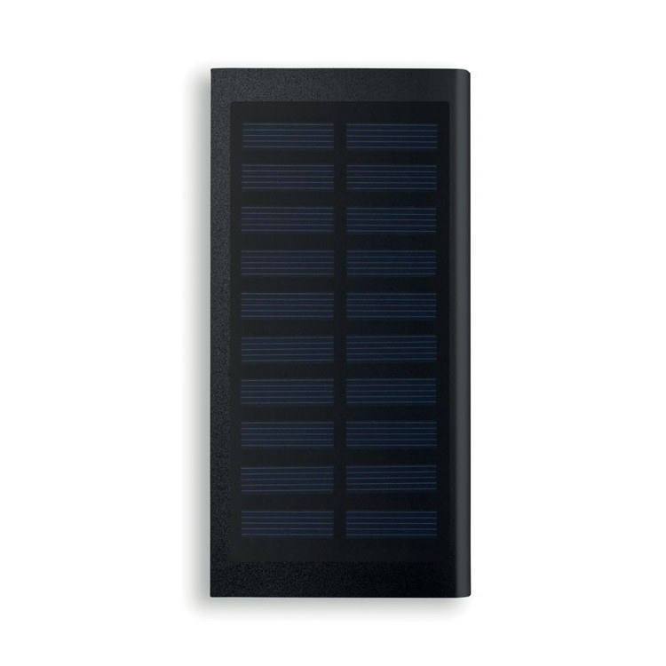 Powerbank solaire 8000mAh - Batterie de secours avec logo