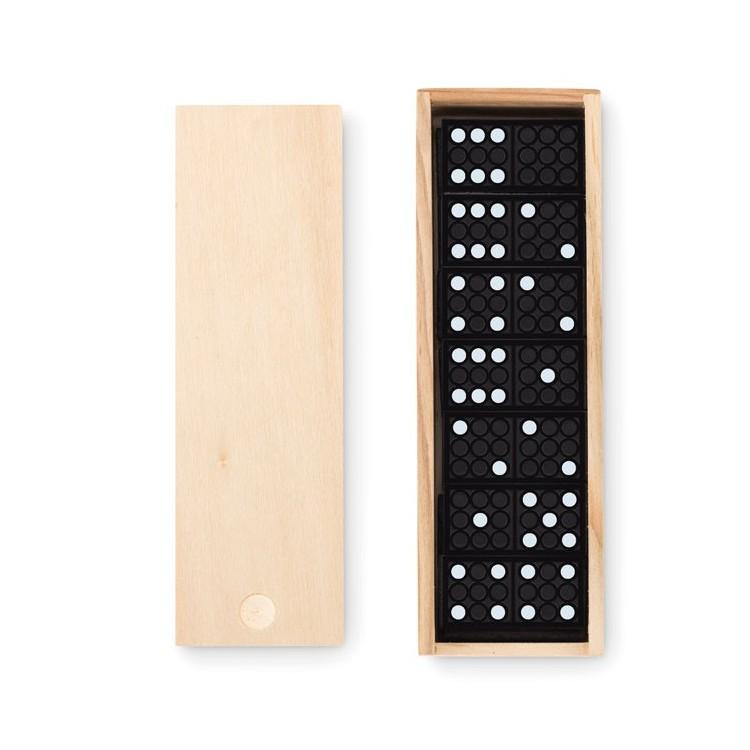 Jeu de domino avec boite en bois - Jeu de société publicitaire