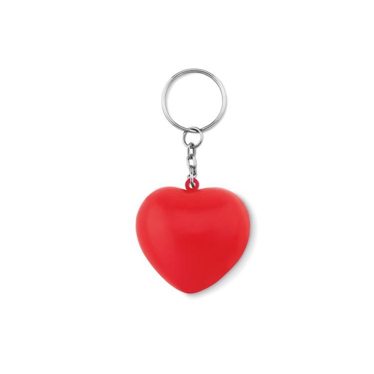 Porte-clés en PU forme cœur personnalisé - Porte-clé plastique personnalisable