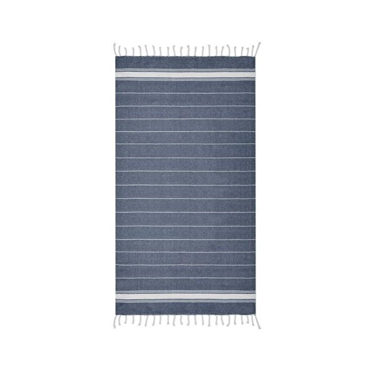 Serviette de plage coton FOUTA 90 x 170 cm publicitaire - Été personnalisé