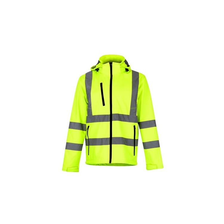 Manteau haute visibilité pour homme - Softshell avec logo