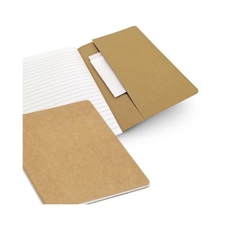 Cahier A5 80 pages 100% recyclé - Ecologique avec logo