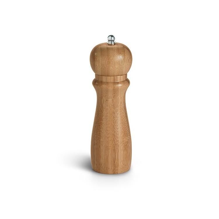 Moulin à poivre ou sel en bambou - Arts de la table avec logo