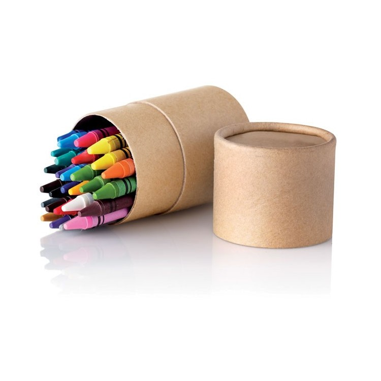 Etui crayons cire (30 crayons) - Enfants avec logo
