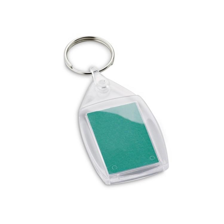 Porte-clés photo rectangulaire - Porte-clé plastique personnalisable