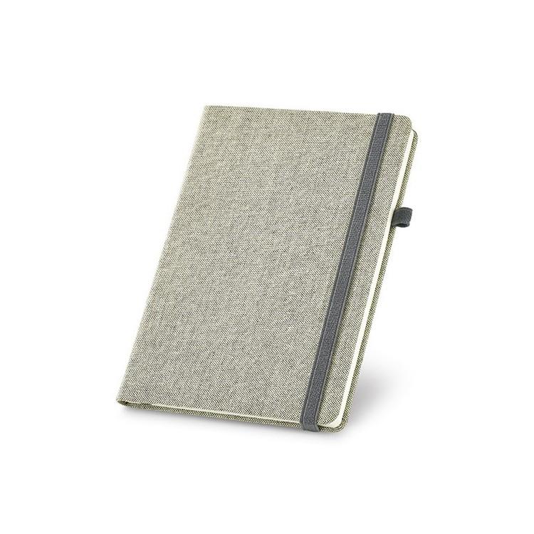 Carnet A5 avec couverture rigide tissu - Carnet publicitaire